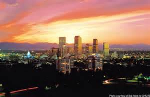 Downtown Denver Colorado Sunset