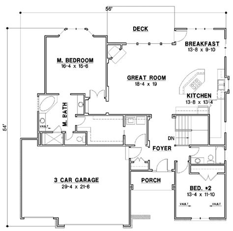 traditional house plan  bedrooms  bath  sq ft plan