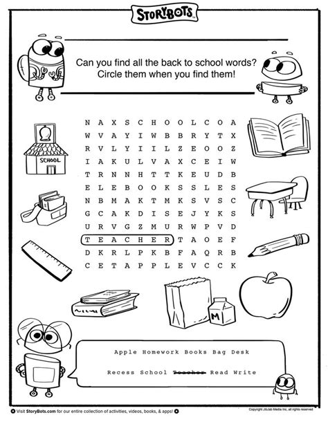 22 best images about back to school activity sheets on pinterest finger puppets summer