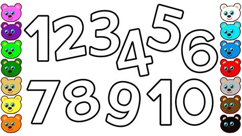 numbers     kids coloring pages  toddlers