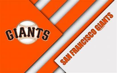 Giants Francisco San Mlb Orange Abstraction Wallpapers