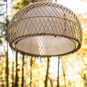 Abat Jour Osier : suspension luminaire lampe avec abat jour osier 44 cm ~ Teatrodelosmanantiales.com Idées de Décoration