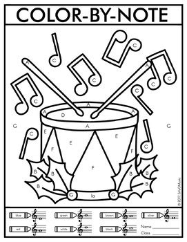 christmas color  note  coloring pages