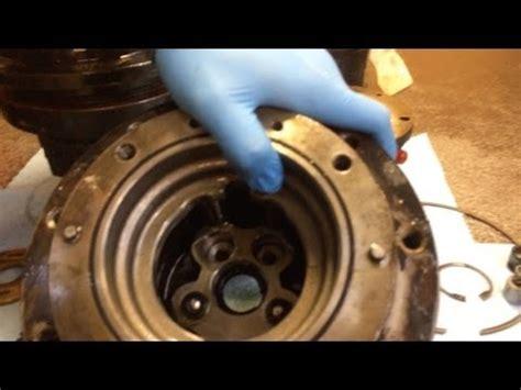 excavator travel motor damage  clogged case drain youtube