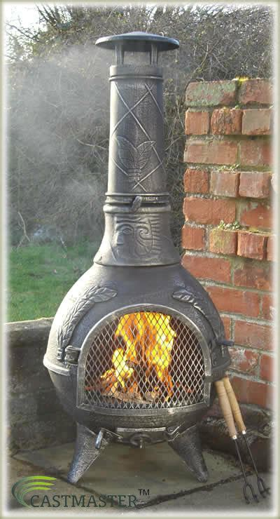 Chiminea Clay Or Iron - castmaster aztec cast iron chiminea chimenea chimnea patio