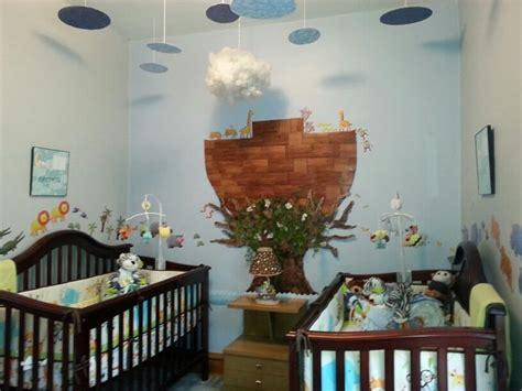 noahs ark theme baby nursery  twins michael lechowski