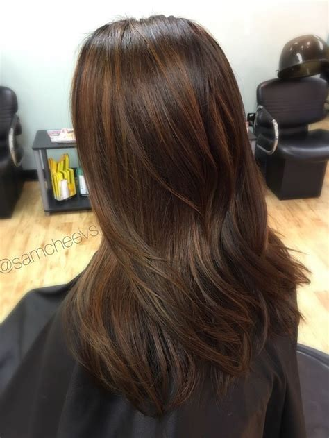 Hair With by From Black To Caramel Chocolate Brown Hair Balayage For