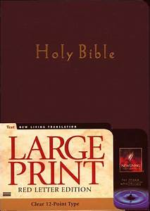 nlt large print bible red letter edition new living With the living bible red letter edition large print