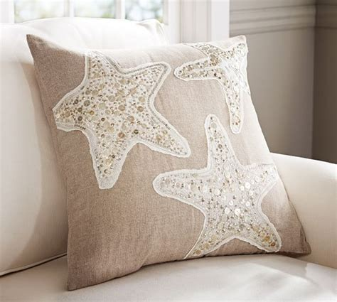Embellished Beaded Pillow Covers Pottery Barn by Sequin Coastal Starfish Embroidered Pillow Covers