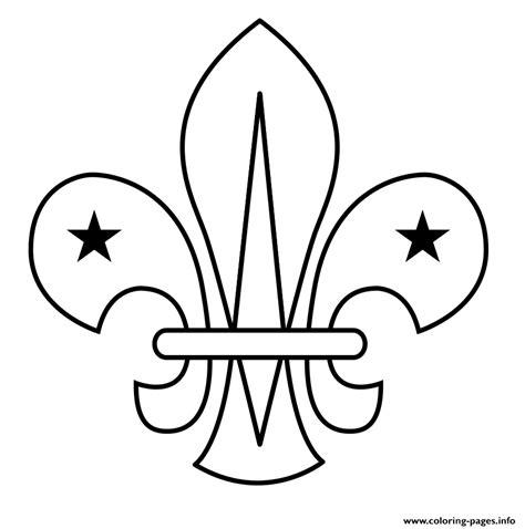 Fleur De Lis Scouting Scout Coloring Pages Printable