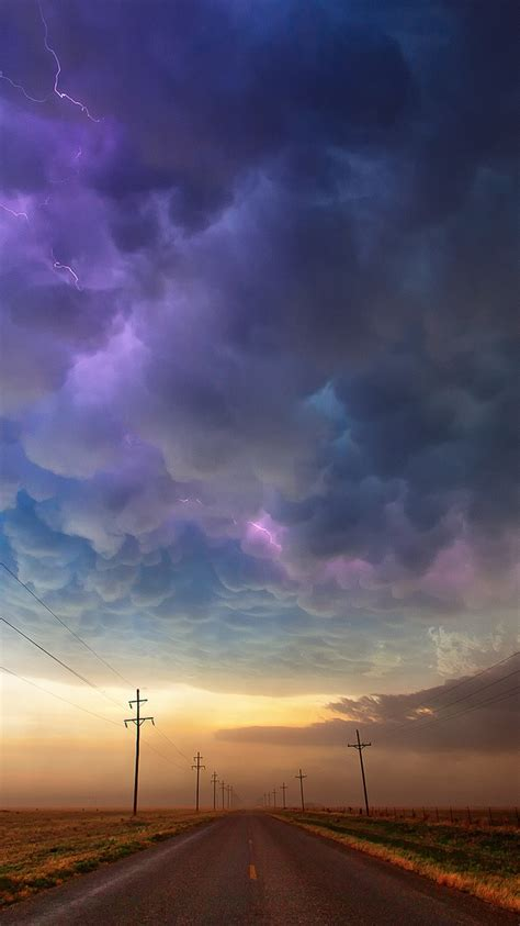 texas usa road storm clouds iphone wallpaper iphone