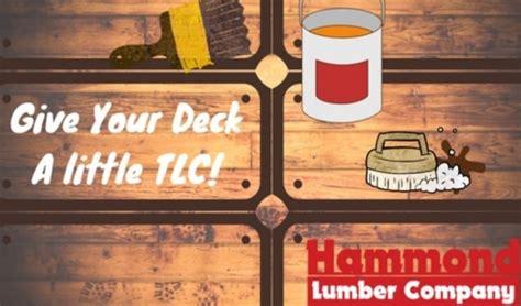 deck maintenance upkeep hammond lumber company