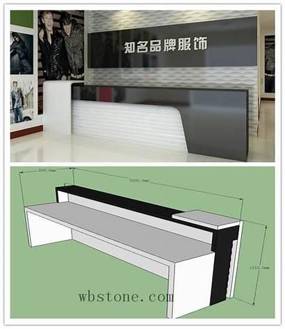 Desk Business Reception Cash Cloth Company Counter