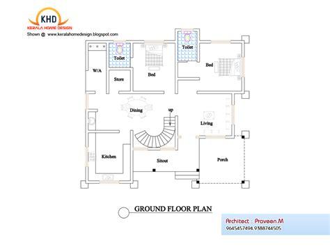 home architect plans plan elevation kerala home design floor plans home plans