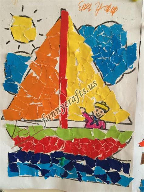 paper collage crafts ideas  preschool  homeschool