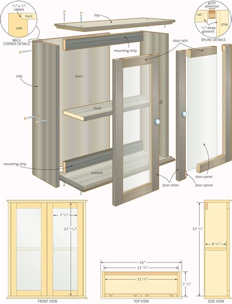 woodworking plans bathroom cabinets quick