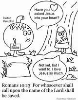 Coloring Pages Pumpkin Sunday Candy Corn Printable Pastor Bible Prayer Fall Romans Crafts Jesus Church Verse Halloween Creation Christian Kid sketch template