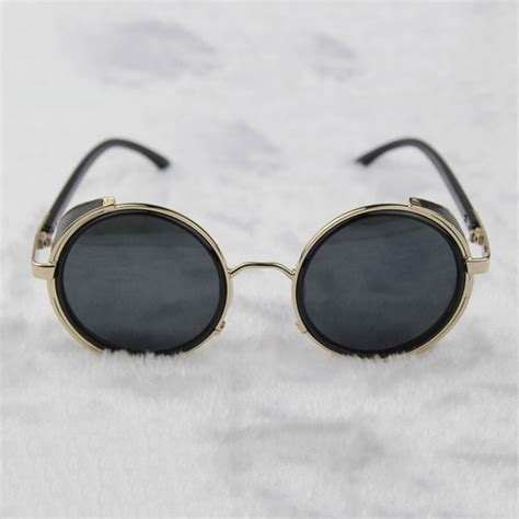 Steampunk Glasses Gold And Gray With Side Shields