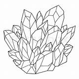 Crystal Coloring Vector Drawn Hand Pages Illustration Colourbox Somjai sketch template