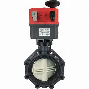 8 U2033 Electric Actuated Pvc Butterfly Valve 24 Dc