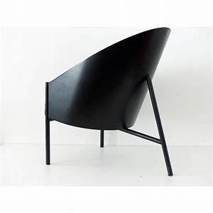 fauteuil pratfall en metal bois et cuir philippe starck With fauteuil design bois et cuir