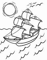 Coloring Mayflower Printable Navio Desenho Template Ship Sail Earth Educamais Sheets Familyfriendlywork Ingrahamrobotics 保存 sketch template
