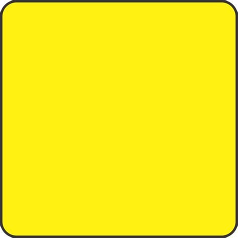 Yellow Square Blank Fluorescent Yellow Square Labels