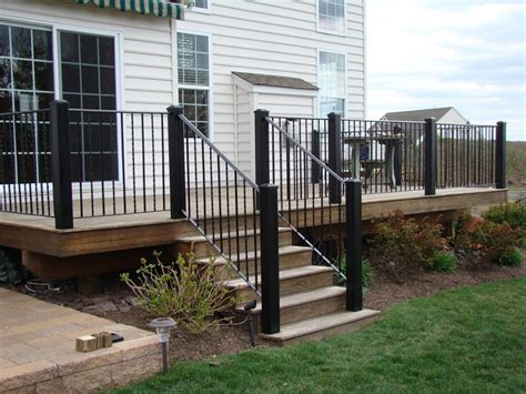 deck railing stairs repair deck railing  stairs
