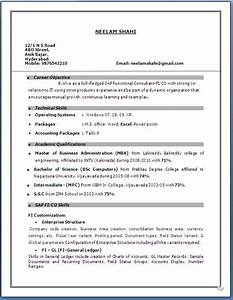 sap fico resume 3 years experience With two years experience resume sample
