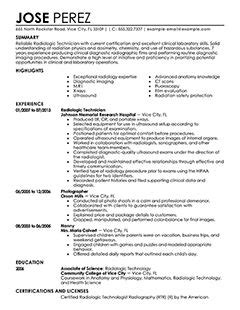 28 radiologic technologist sle resume 9 resume format