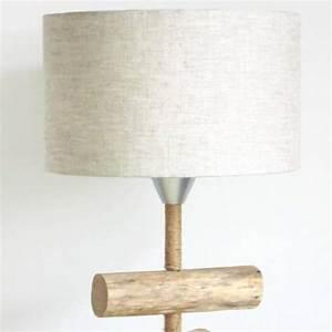 Création Abat Jour : abat jour rond cylindre 30 cm tissu lin un grand march ~ Melissatoandfro.com Idées de Décoration