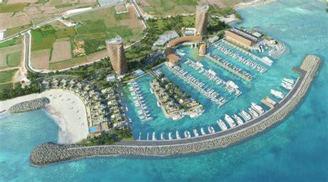 luxury marina begins construction  ayia napa cyprus ybw