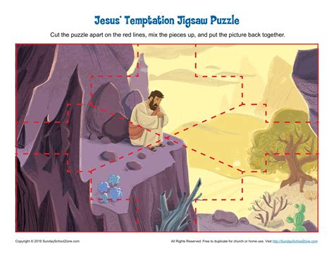 jesus temptation jigsaw puzzle childrens bible