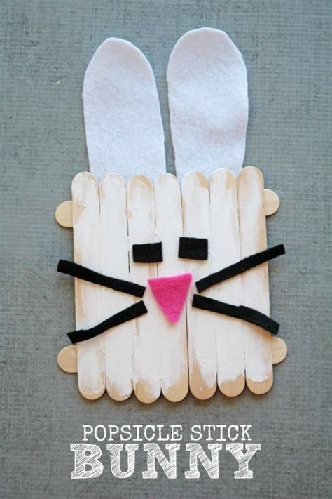 bunny craft  popsicle sticks darice bunny crafts