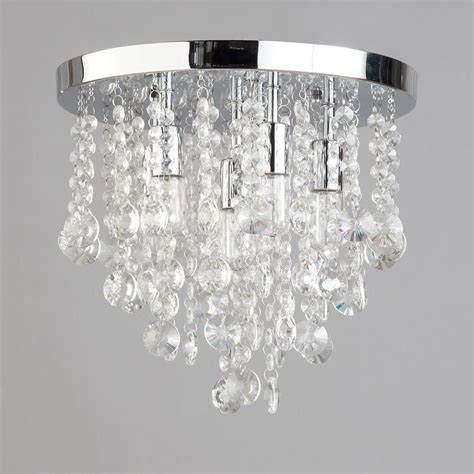 semi flush ceiling light circular bathroom turin 6 light