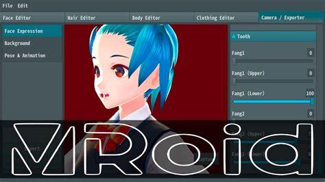 vroid studio   anime style character creator