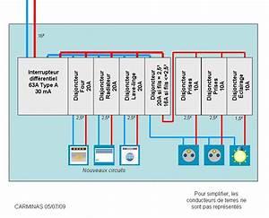 Norme Branchement Four Electrique : cablage tableau lectrique avec neutre commun ~ Premium-room.com Idées de Décoration