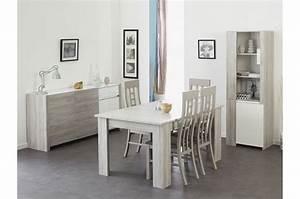 Table Salle A Manger Blanche Et Bois : salle manger moderne bois et laque blanche ~ Teatrodelosmanantiales.com Idées de Décoration