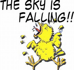 Image result for chicken little fifties images the sky is falling