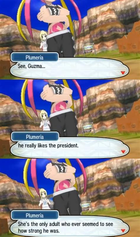 guzma  likes lusamine pokemon sun  moon