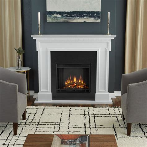 Real Flame Thayer 54 in. Electric Fireplace in White 5010E