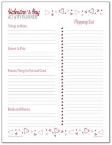 Valentine's Day Planner Printables