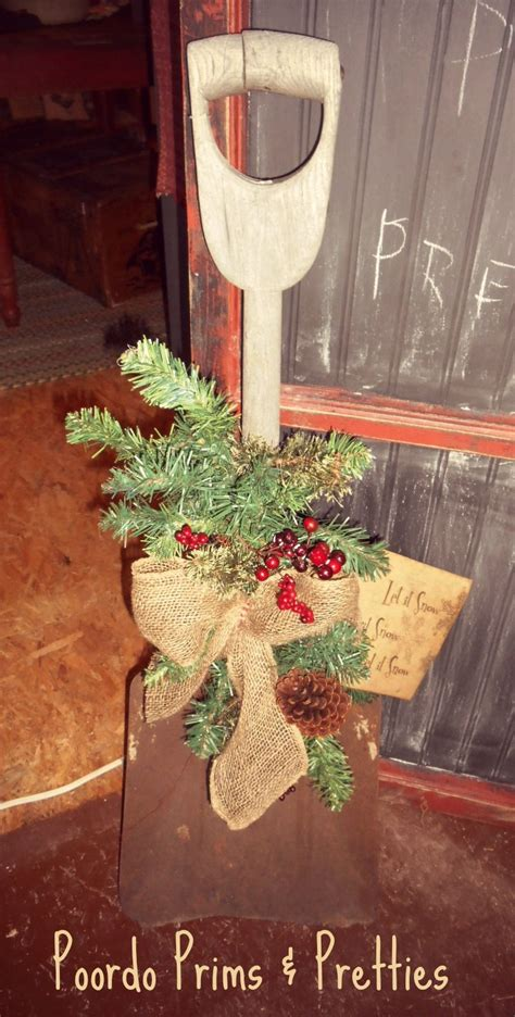 Old Shovel For Your Winter Porch Christmas
