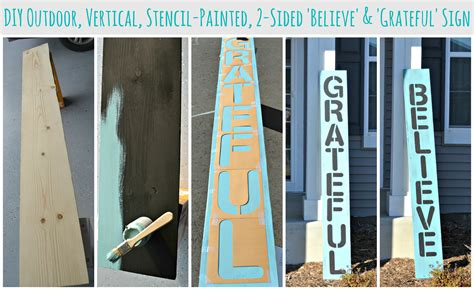 Diy Outdoor Vertical Stencil-painted Believe And Grateful