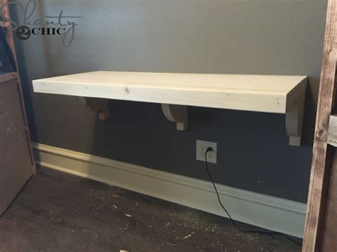 how to make a floating desk diy floating desk for office towers shanty 2 chic