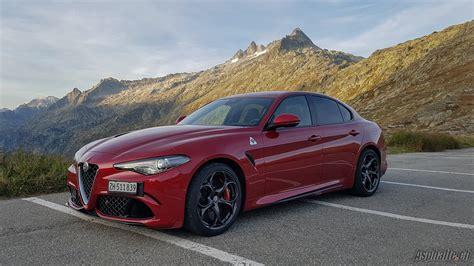 Essai Alfa Romeo Giulia Quadrifoglio Asphaltech