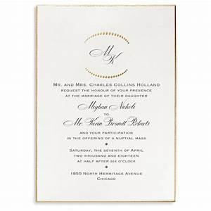 Monogram etiquette for wedding invitations for Very formal wedding invitations