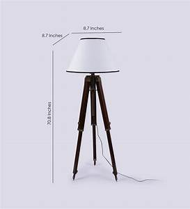 white wooden base tripod floor lamp antikcart With wilko tripod floor lamp white