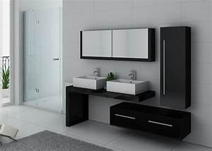 Meuble Salle De Bain Asymétrique : ensemble meubles salle de bain meubles salle de bain noir dis9350n ~ Nature-et-papiers.com Idées de Décoration
