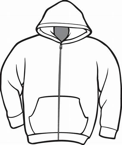 Hoodie Clipart Jacket Template Shirt Printable Drawing
